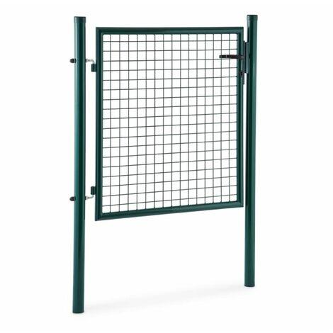 Waldbeck Duraporta 1510 Puerta para jardín de malla 1,5 m Acero Con cierre verde