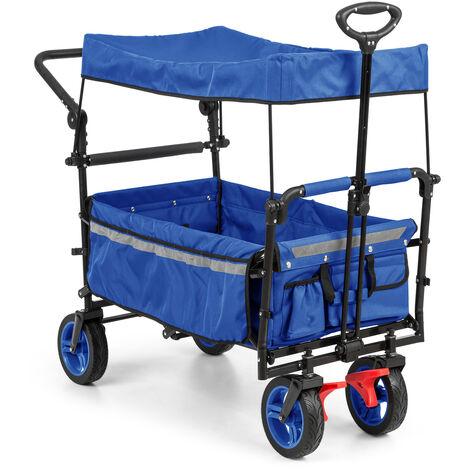 Waldbeck Easy Rider Chariot de transport avec auvent > 70kg barre télescopique b