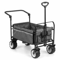 Waldbeck Easy Rider Chariot de transport + barre charge 70kg - gris