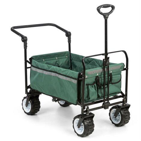 Waldbeck Easy Rider Chariot de transport + barre charge 70kg - vert