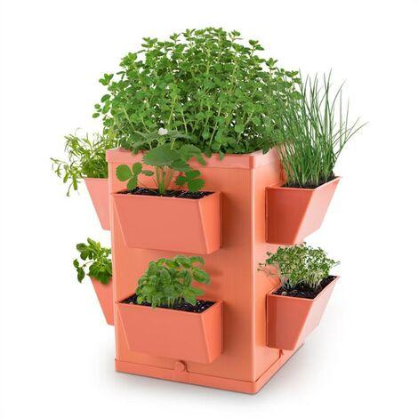 Waldbeck Herbie Hero Jardinière multi plantes herbes 8 bacs - terracotta