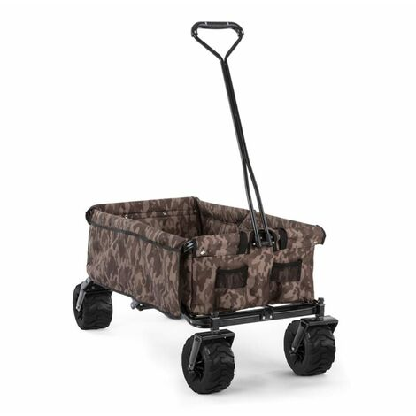 Waldbeck The Camou Hand Cart Hand Wagon Foldable 70 kg 90l Wheels Ø10cm Camouflage