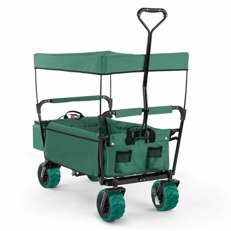 Waldbeck The Green Supreme Hand Cart Hand Wagon 68 kg Sun Awning