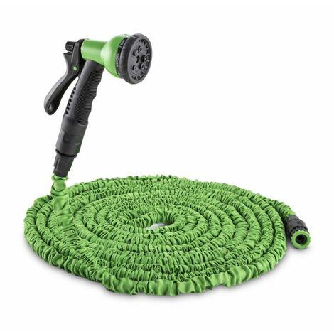 Waldbeck Water Wizard 15 Flexible Garden Hose 8 Function 15 m Green