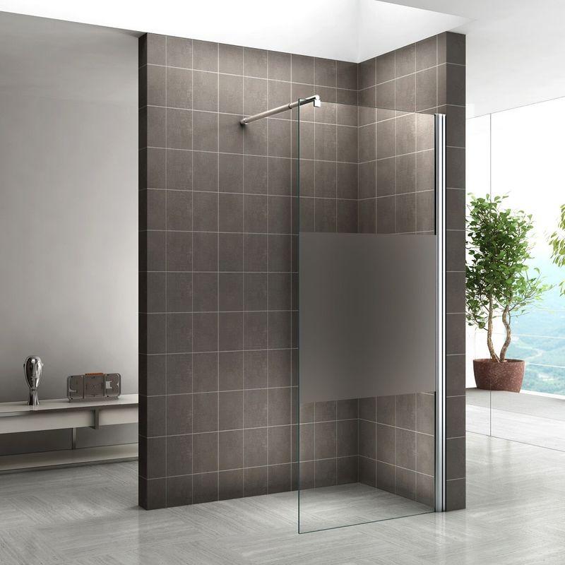 Walk In Dusche 10mm Duschwand Duschabtrennung Teilsatiniert W840