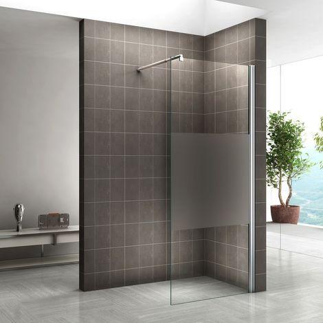 Walk In Dusche 10mm Duschwand Duschabtrennung Teilsatiniert W840 ...