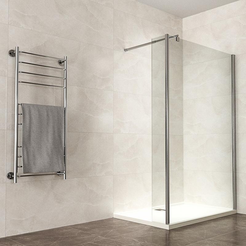 Walk In Dusche Duschwand Duschabtrennung mit Eckglas Eckscheibe  Spritzschutz Klarglas 10mm