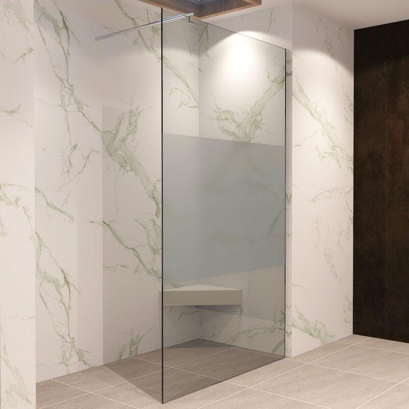 Walk In Dusche Duschwand Duschabtrennung Teilsatiniert Edelstahl ...