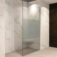 Walk In Dusche Duschwand Duschabtrennung Teilsatiniert Edelstahl 10mm W740 - alle Größen