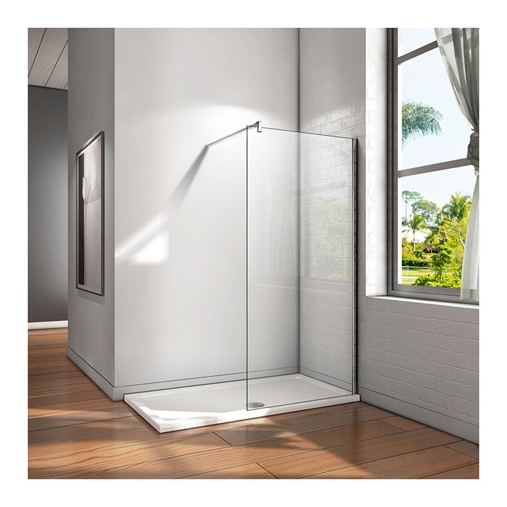 50x200 cm walk in duschkabine duschabtrennung 10mm nano glas stabilisatorstangen f r die dusche. Black Bedroom Furniture Sets. Home Design Ideas