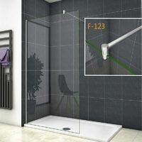 Walk-IN Duschkabine Duschabtrennung 10mm NANO Glas+Stabilisatorstangen für die Dusche