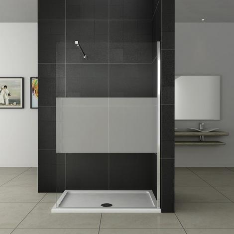 140x200 cm Walk-IN Duschkabine Duschabtrennung(teilsatiniert)+ ...