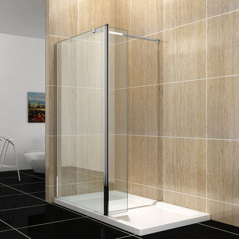 Walk In Shower Enclosure 8mm Easy Clean Glass Wet Room Screen Panel