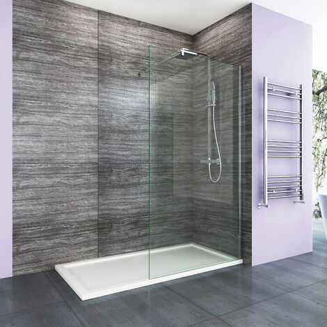 Walk In Shower Enclosure 8mm Easy Clean Glass Wetroom Shower Screen Panel 1000mm