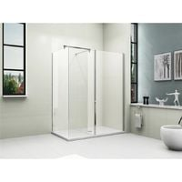 Walk in Shower Enclosure with Tray + Waste