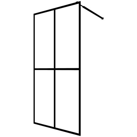 Walk-in Shower Screen Tempered Glass 140x195 cm