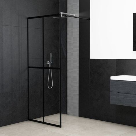 Walk-in Shower Screen Tempered Glass 90x195 cm