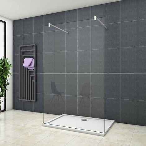 Walk in Wet Room Shower Enclosure Screen Panel Easy Clean Glass Cubicle 1850/1950/2000mm
