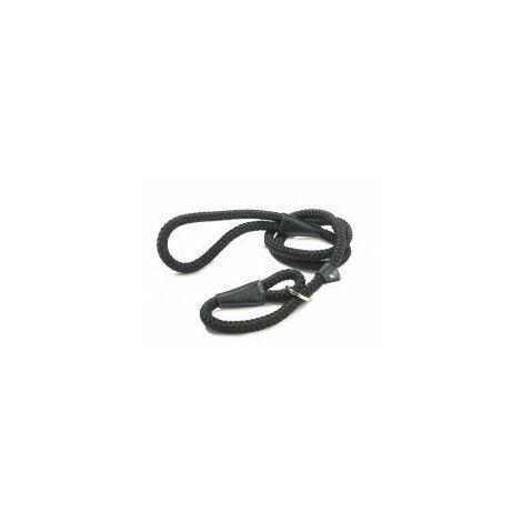 Walk 'R' Cise Nylon Rope Slip Lead - Black - 1.2x1 - 376053