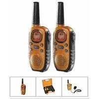 Walkie Talkie Vigilancia Carga Bateria 8C 10Km Alc Topcom 2 Pz