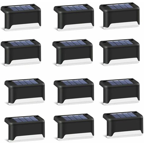 "main image of ""Walking lights, 12pcs Solar garden stair lights, outdoor garden fence landscape decoration solar lights"""
