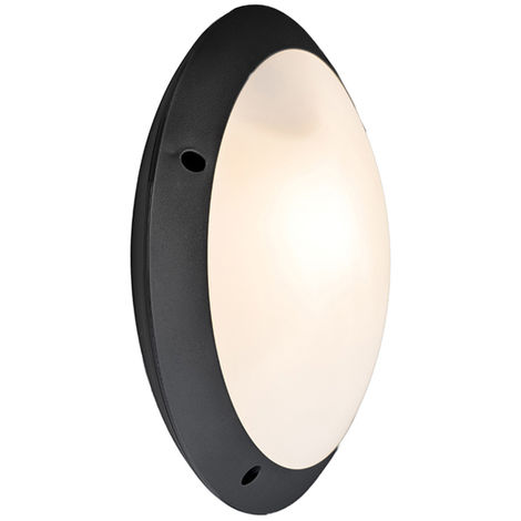 Wall and ceiling lamp black IP65 - Lucia