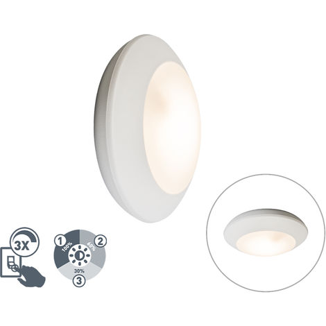 Wall and Ceiling Lamp White IP65 incl. 3W LED GX53 - Bertina