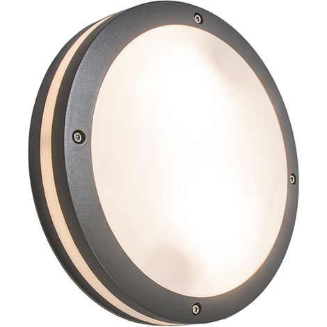 Wall and ceiling light anthracite IP54 - Glow