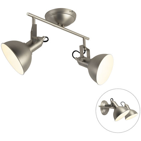 Wall and ceiling spot steel 1-light swivel and tilt - Tommy