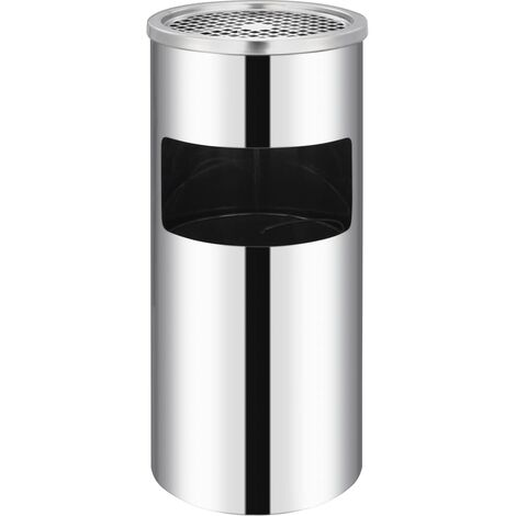 Wall Ashtray Dustbin Stainless Steel 26 L