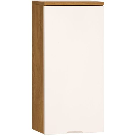 Wall Cabinet Single Door Premier Housewares Oak Effect Cabinet