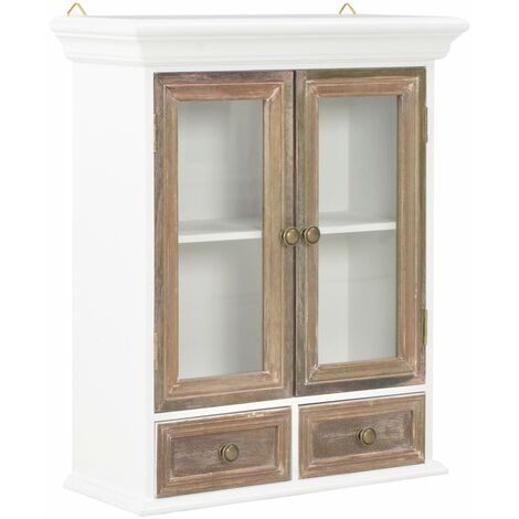 Wall Cabinet White 49x22x59 cm Solid Wood