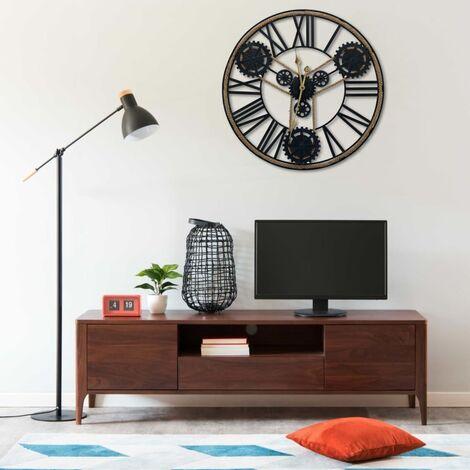 """main image of """"Wall Clock Black 80 cm Metal - Black"""""""