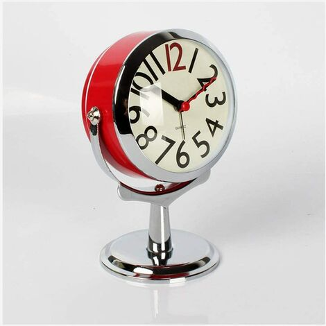 wall clock table clock for living room decor bedroom bathroom small table clocks battery operated analog alarm clock mute not ticking modern simple quartz grandfather clock clock (color: a)