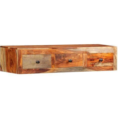 Wall Console Table 100x25x20 cm Solid Sheesham Wood