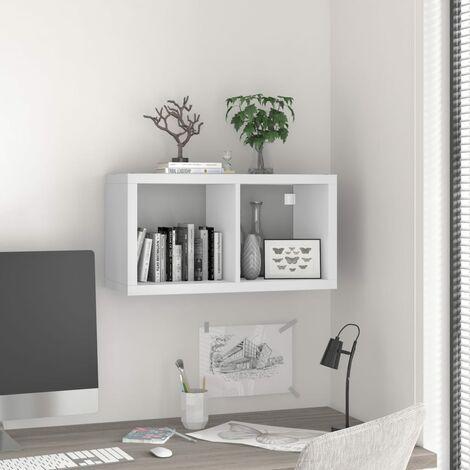 Wall Cube Shelf White 69.5x29.5x37 cm MDF