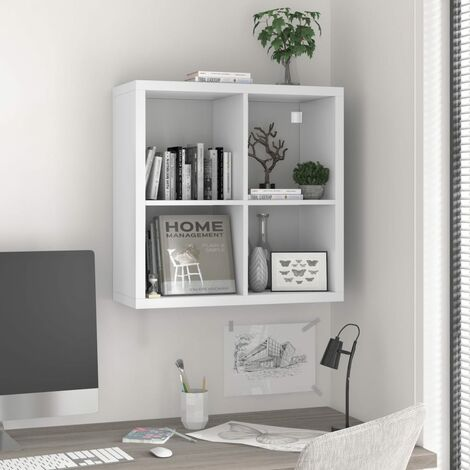 Wall Cube Shelf White 69.5x29.5x69.5 cm MDF