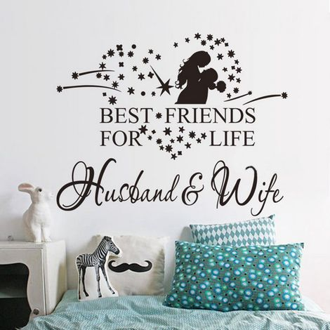 Wall Decal Removable Letter Deco Wall Sticker Bedroom Living Room Roman Hasaki