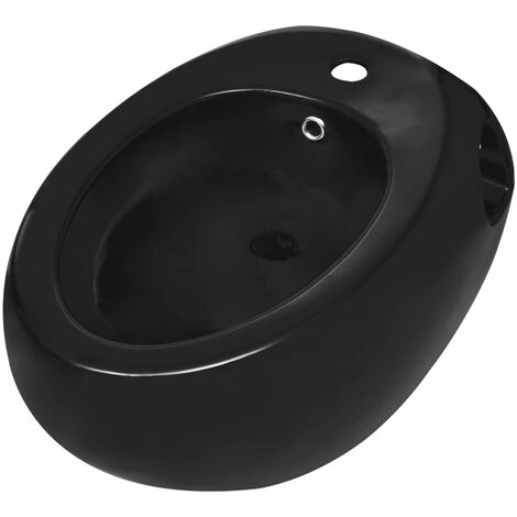 Wall Hung Bidet Black Ceramic