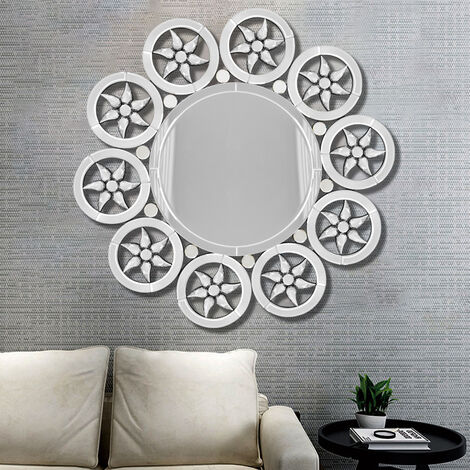 Wall Hung Round Contemporary Art Mirror