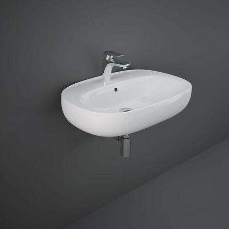 Wall Hung Sink Basin Mounted 650mm RAK Ceramics 1 Tap Hole Modern