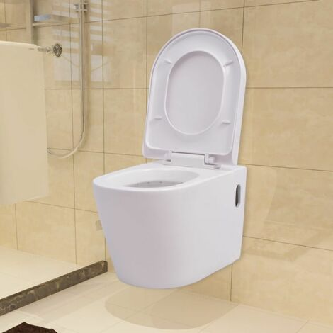 Wall Hung Toilet Ceramic White