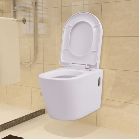 Wall Hung Toilet Ceramic White - White