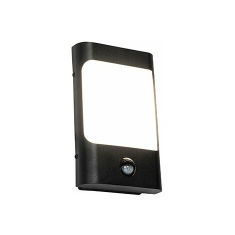 "main image of ""Wall lamp black incl. LED IP44 with motion sensor - Khuvan"""