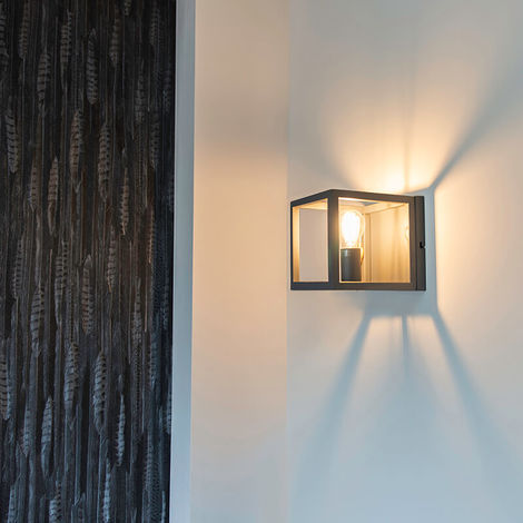 Wall Lamp Cage 1 Grey