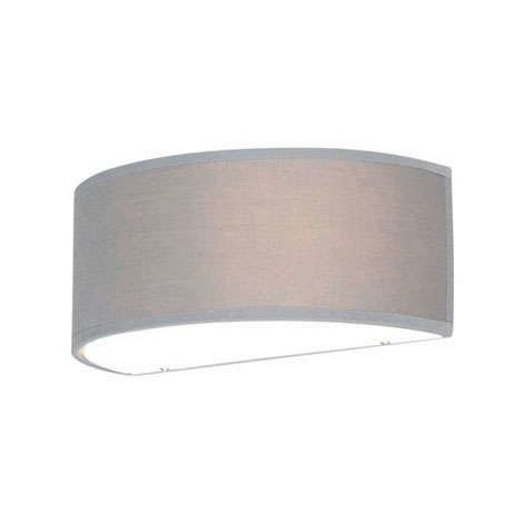 Wall lamp half round gray - Drum