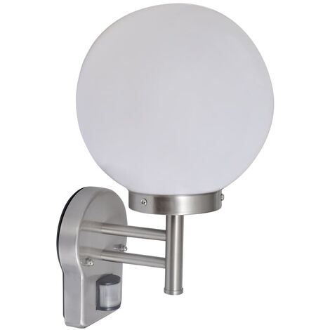 Wall Lamp Stainless Steel Ball Shape with Sensor