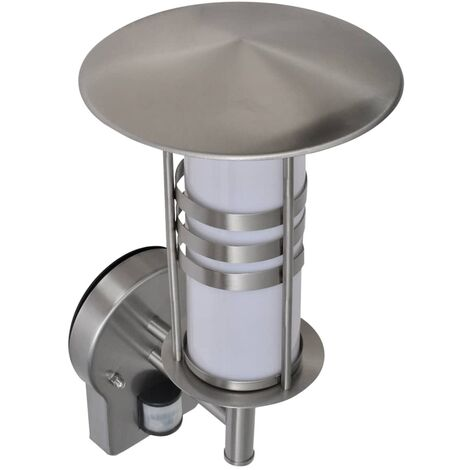 Wall Lamp Stainless Steel Pagoda Shape with Sensor