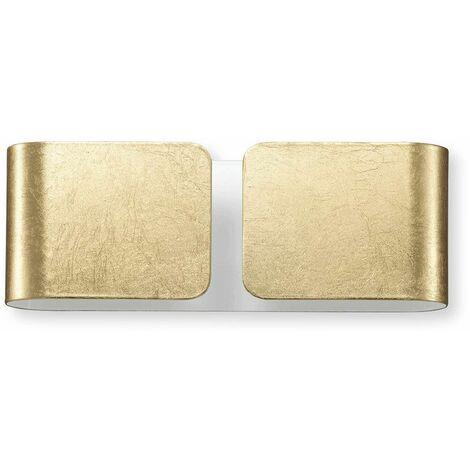 Wall light Gold CLIP 2 bulbs Width 25 Cm