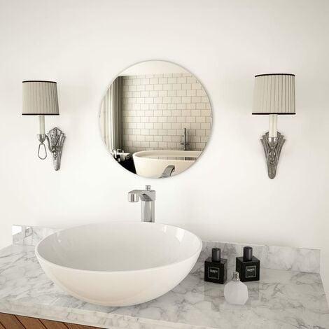 Wall Mirror 40 cm Round Glass - Silver